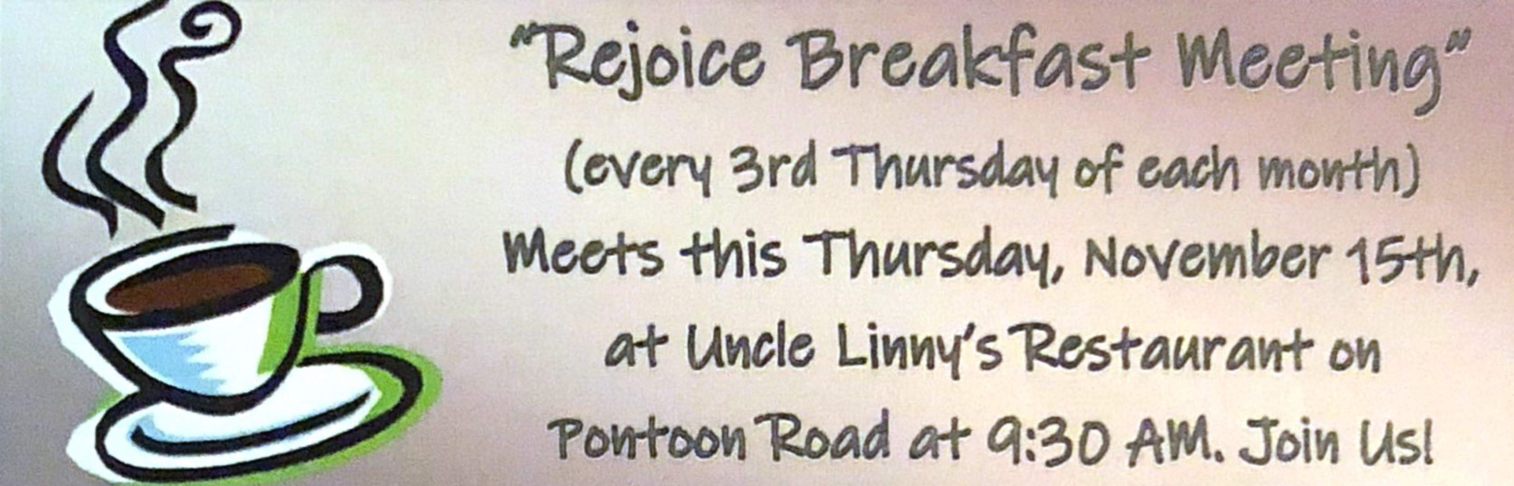 Rejoice Breakfast Meeting